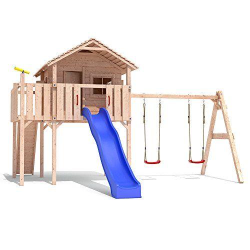 ponticulus spielturm stelzenhaus baumhaus rutsche schaukel 2 meter podesth he summer. Black Bedroom Furniture Sets. Home Design Ideas