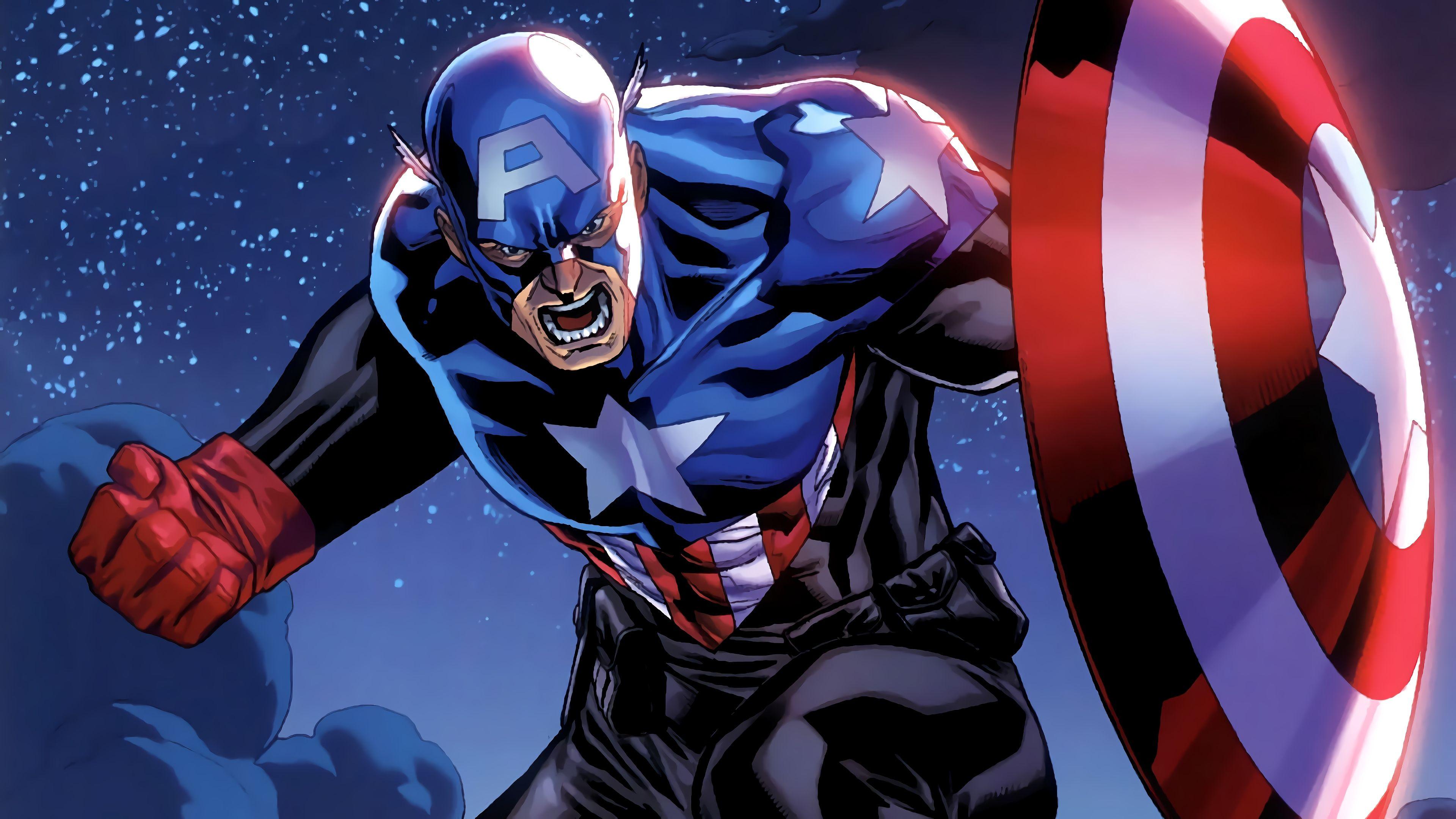 Wallpaper 4k Captain America Marvel Comics 4k Wallpaper Captain