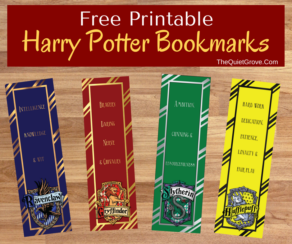 image about Printable Harry Potter Bookmarks identified as Totally free Harry Potter Printable Bookmarks Harry Potter Harry