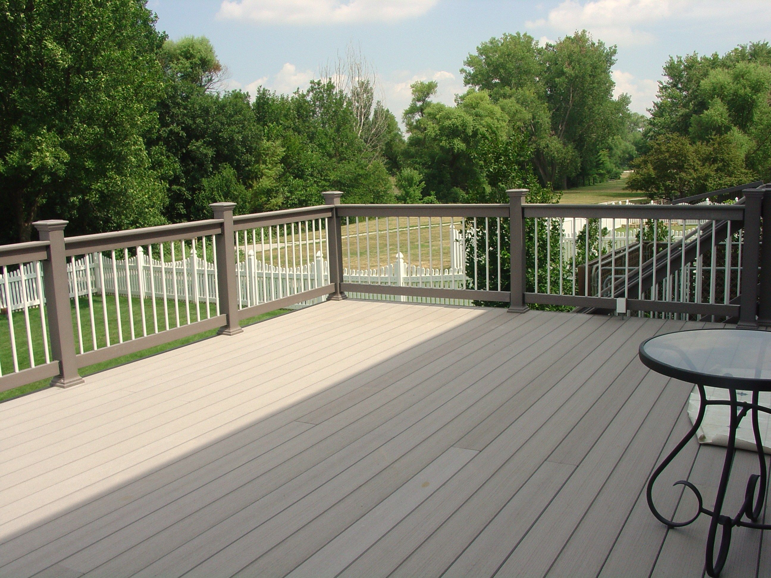Flooring Darkgray Evergrain Decking Matched With Tan And White