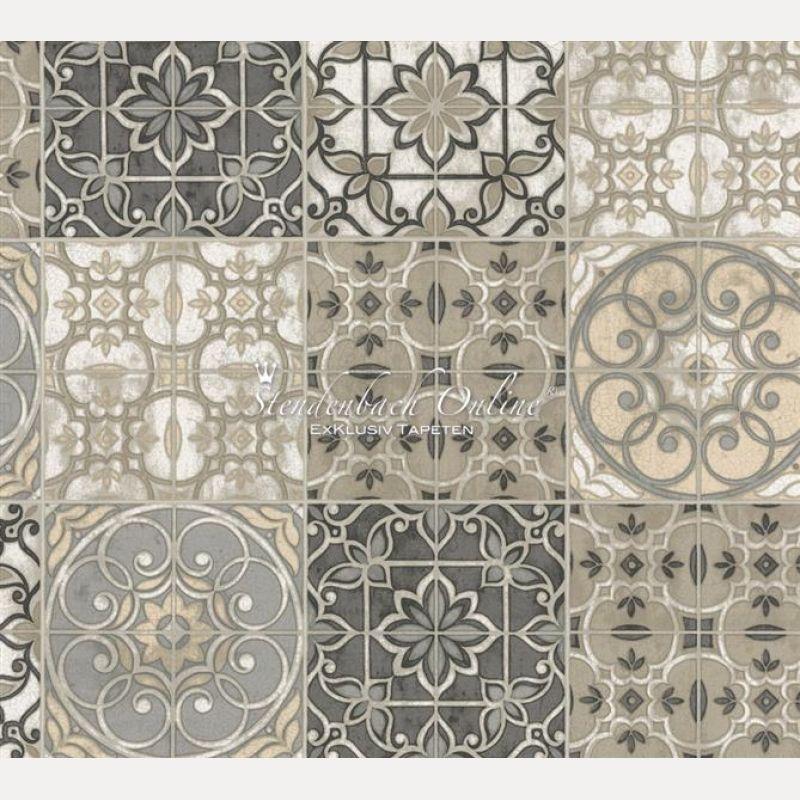 Küchen Tapete Landhaus Fliesen Ornamente Mandala Tapeten - fliesen tapete küche
