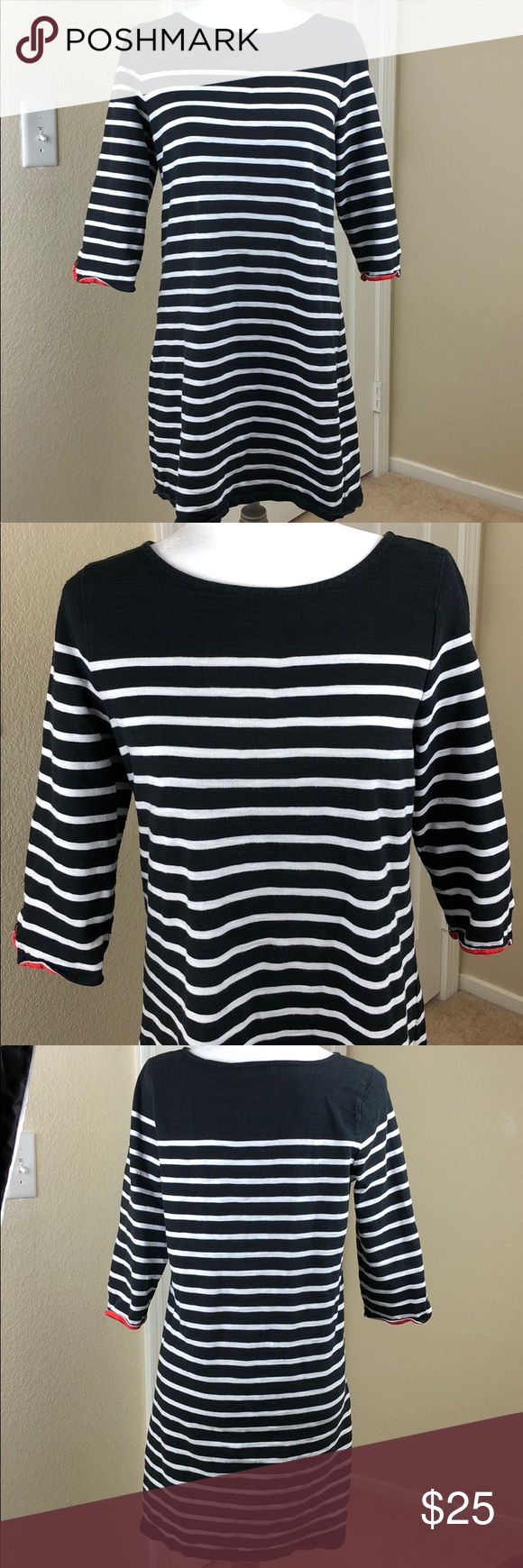 Talbots Petites Striped Black White Shirt Dress Lp Black And White Shirt Black White Shirt Dress White Shirt Dress [ 1740 x 580 Pixel ]