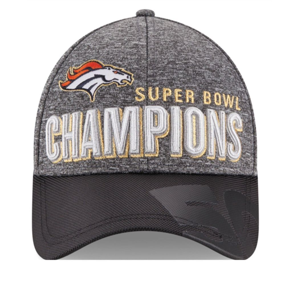 c875643c8 16 NFL Super Bowl Champions Denver Broncos New Era Locker Room Adjustable  Hat  NewEra  DenverBroncos