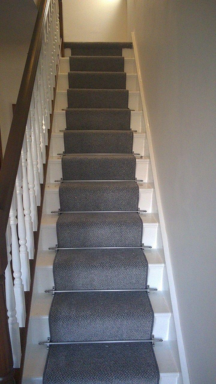 Grey stair runner decor pinterest trap ontwerp trap en ontwerp