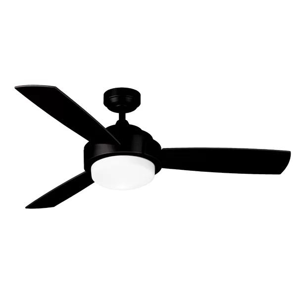 52 Larrabee 3 Blade Ceiling Fan With Remote Light Kit Included Ceiling Fan Ceiling Fan With Remote 3 Blade Ceiling Fan