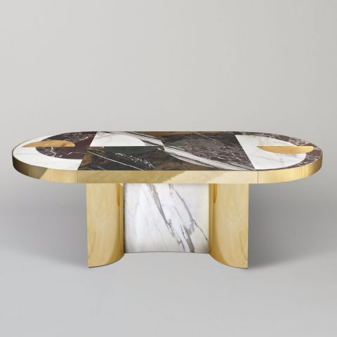 Lara Bohinc Half Moon Dining Table #Marble #furniture By Lapicida.com