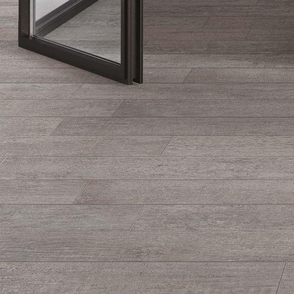 Corso Italia Selva Grey 6 in. x 36 in. Porcelain Floor and Wall ...