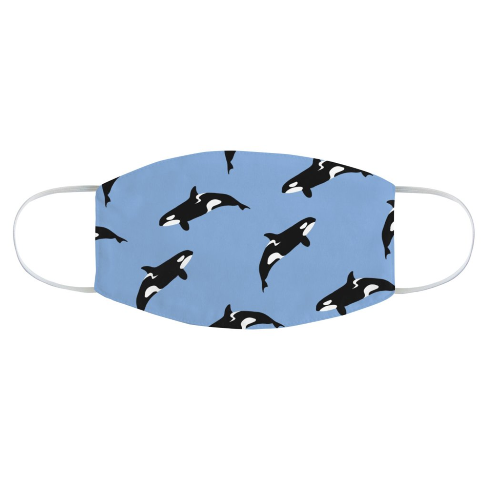 Orca Pattern In Mask Mask Orca Pattern