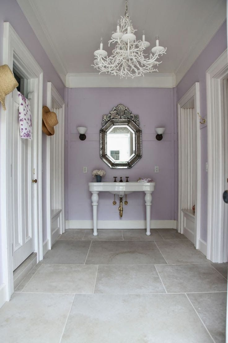 Inspired Lilac Sherwin Williams Powder Room