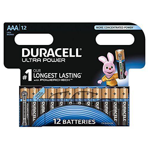 Offerta Di Oggi Duracell 5003936 Ultra Power Batterie Alcaline Ministilo Aaa Confezione Da 12 Pacco Ad Apertura Sempl Duracell Alkaline Battery Batteries