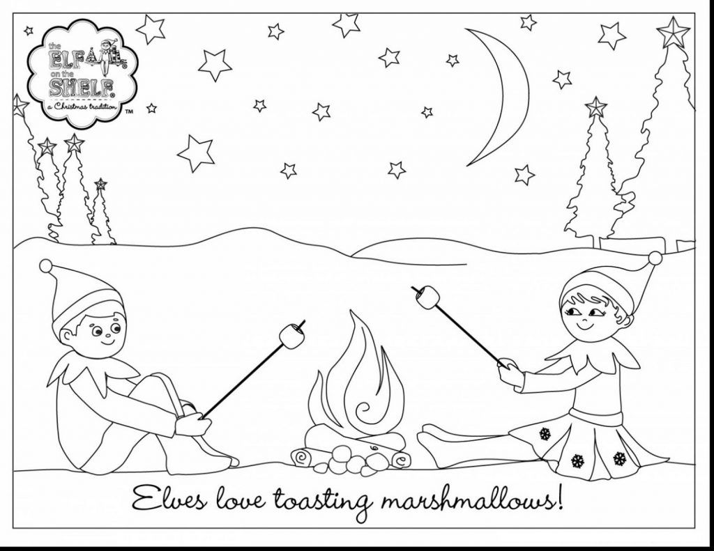 Elf on The Shelf Coloring Pages  Birthday coloring pages, Elf