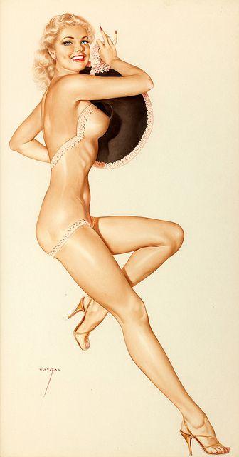 Women in string bikinis see through