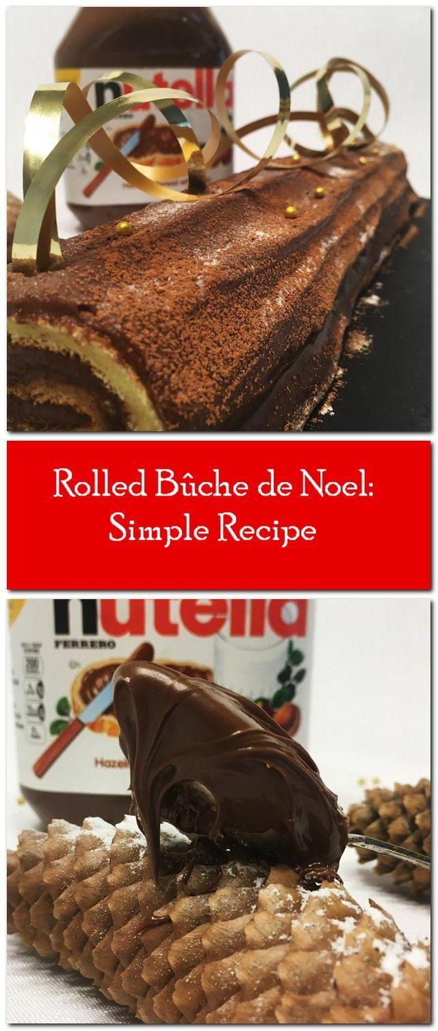 Chocolate Nutella Cake Roll (Swiss Roll) | Recipe ...