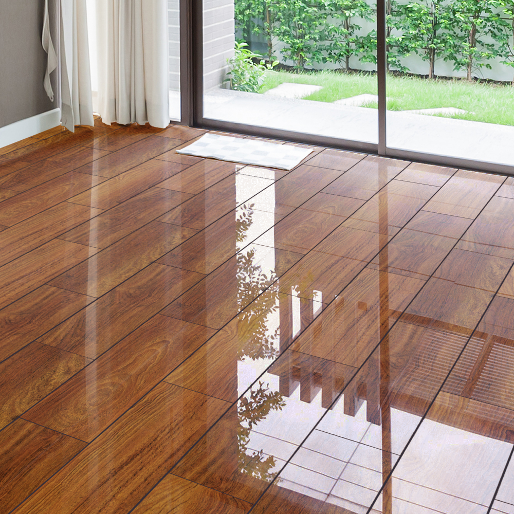 High Gloss 4V 8mm Plateau Merbau Laminate Flooring (D2916