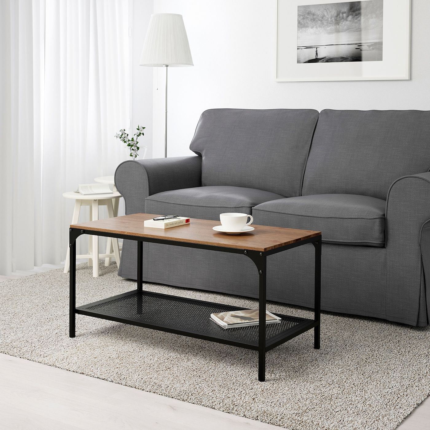 FjÄllbo Coffee Table Black 353 8x181 8