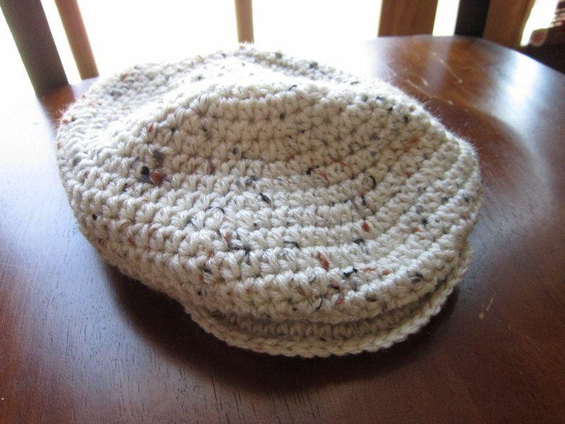 Irish Hat Scally/Drivers/Golf Newsboy Cap Crochet Photo Prop by AMomsGift on Etsy