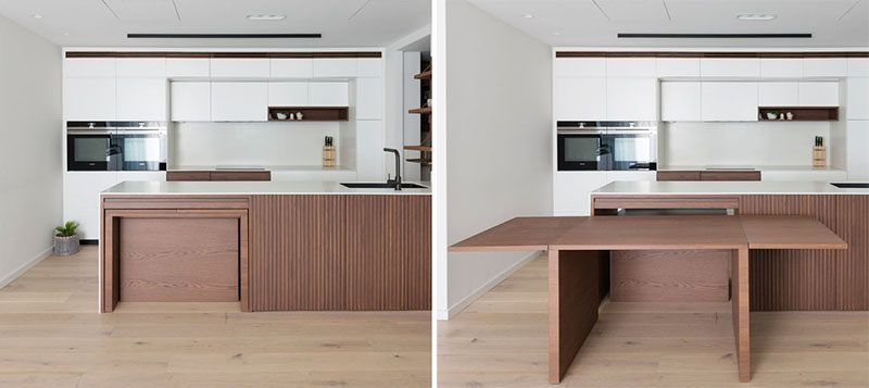 Design Detail A Dining Table Is Hidden Within This Kitchen