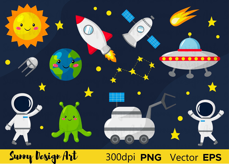 Vector Space Clipart Digital Clip Art Png Images Digital Etsy Clip Art Digital Clip Art Art