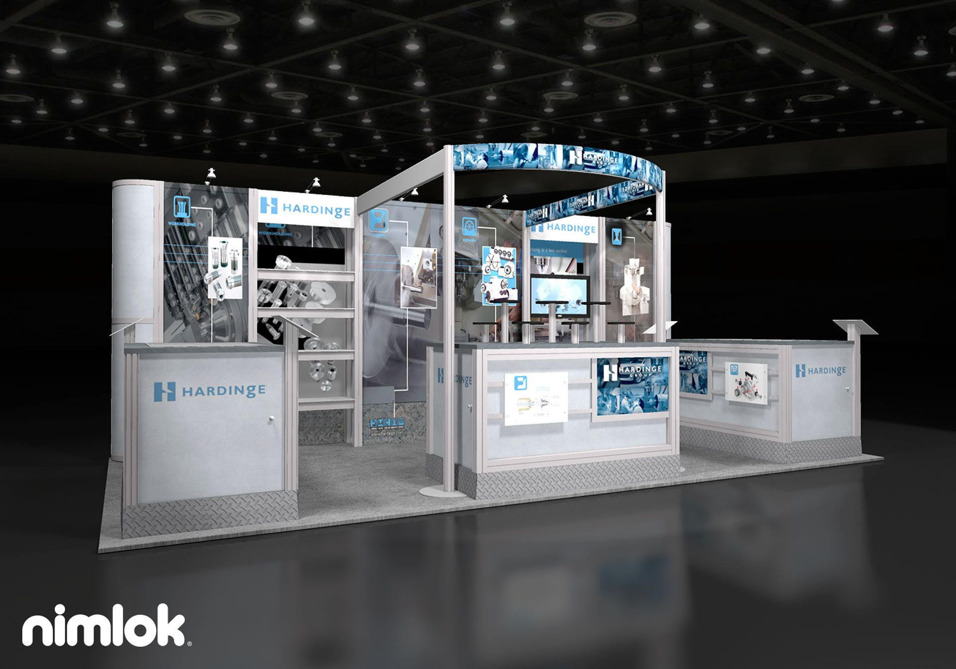 Trade Show Booth Examples : Another example of a custom inline trade show