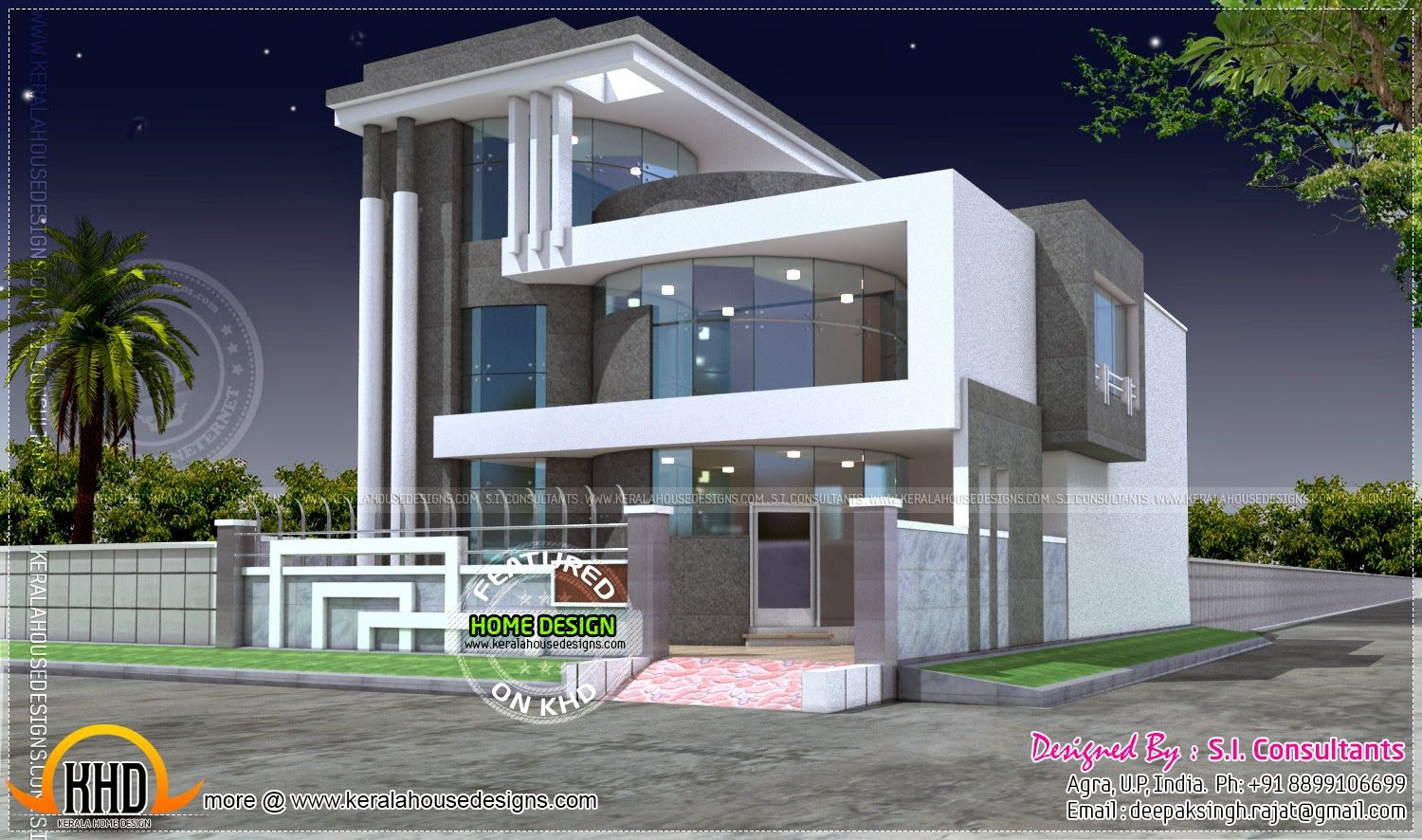 Luxury House Plan With Photo Home Kerala Plans Unique House