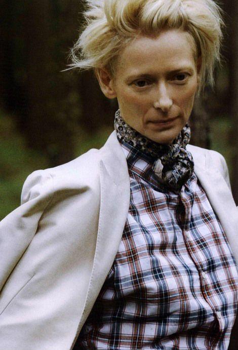 Tilda Swinton by Ryan McGinley, 2010 | L'uomo Vogue / February