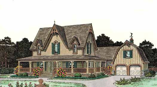 Country Style House Plans 2772 Square Foot Home 2 Story 6