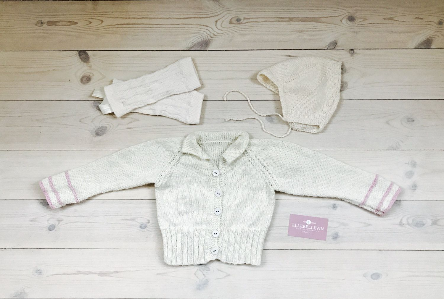 Knitted baby cardigan 3,6 months, Vintage baby girl jumper