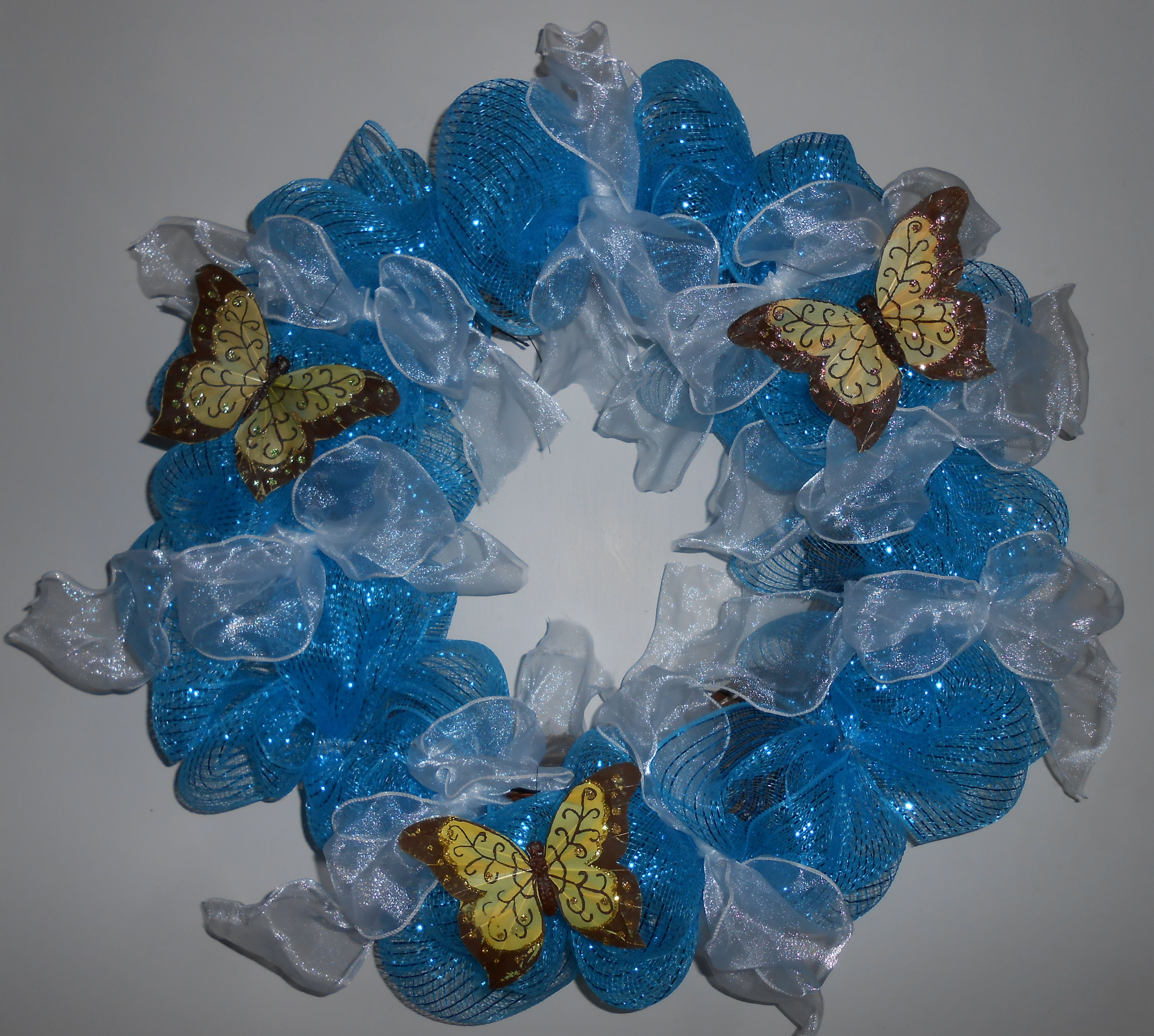 Deco Mesh Wreath For Spring