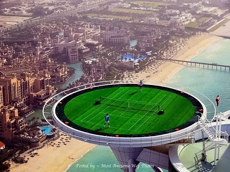 The World 39 S Highest Tennis Court On The Top Of Burj Al