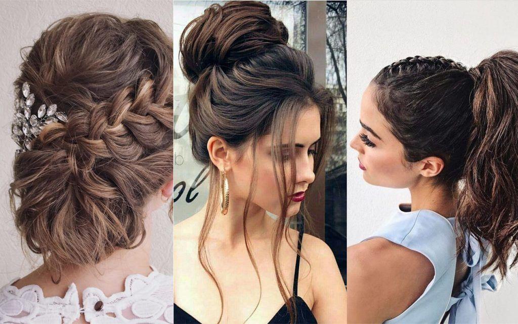 65 Peinados Recogidos Faciles Hermosos Y Elegantes Paso A Paso Con Trenzas Monos O Sencillos Peinados Elegantes Faciles Peinados Peinados Poco Cabello