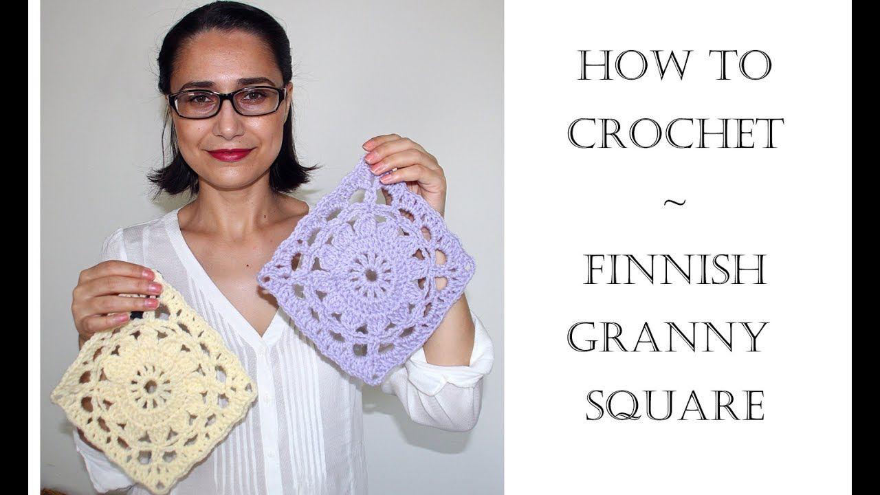 How To Crochet Finnish Granny Square - YouTube | Puntos y grannys ...