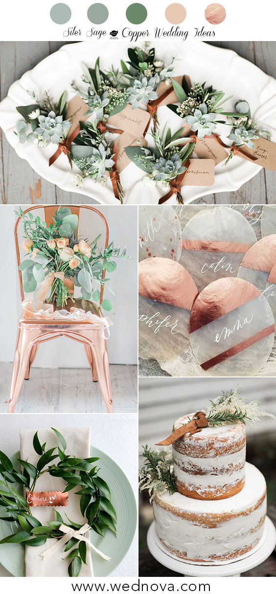 10 Copper Wedding Color Schemes So Good They'll Give You the Inspirations