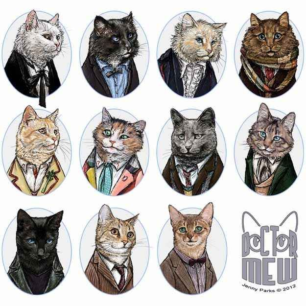 "Doctor Who Regenerations 1-11 | ""Catvengers"" Will Save The World With The Power Of Cuteness"