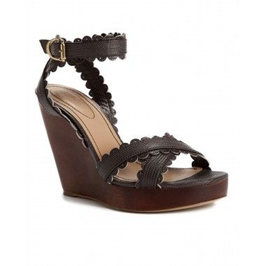 See by Chloé Embossed Leather Wedges free shipping huge surprise sale new kKAQUbX