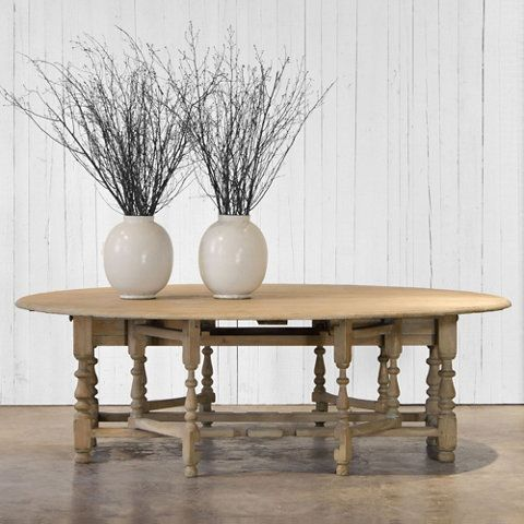 William & Mary Gateleg Table - Verdi Gris Finish - Dining Tables - Furniture - Products - Ralph Lauren Home - RalphLaurenHome.com