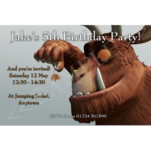 Gruffalo Invitation Gruffalo Party Kids Birthday Invitations