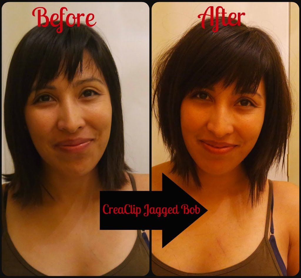 DIY Long Textured Bob Using the Creaclip  Diy haircut, Textured