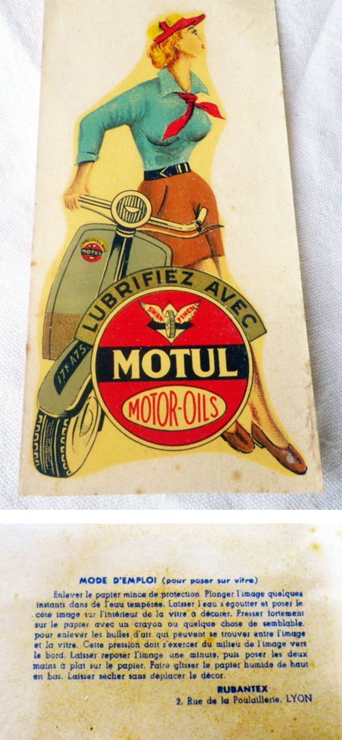 Motul Motor Oil Vintage Water Slick Decal via Scooter Swag Scooter - Poser Papier A Peindre