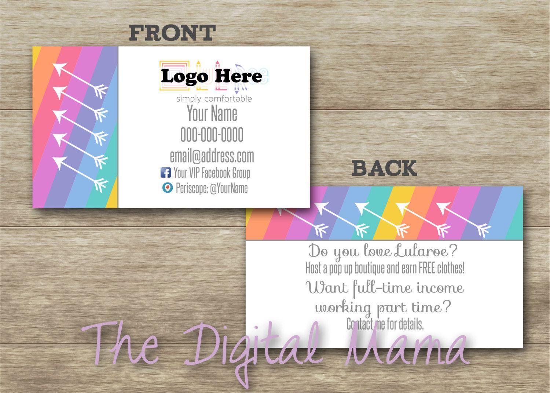 LuLaRoe Consultant Business Cards Design - Customized LuLaRoe ...