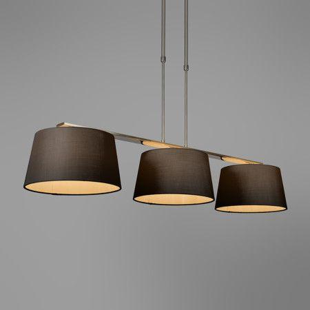 pendelleuchte combi delux 3 schirm rund 30cm schwarz pendelleuchte lampe esstischlampe. Black Bedroom Furniture Sets. Home Design Ideas