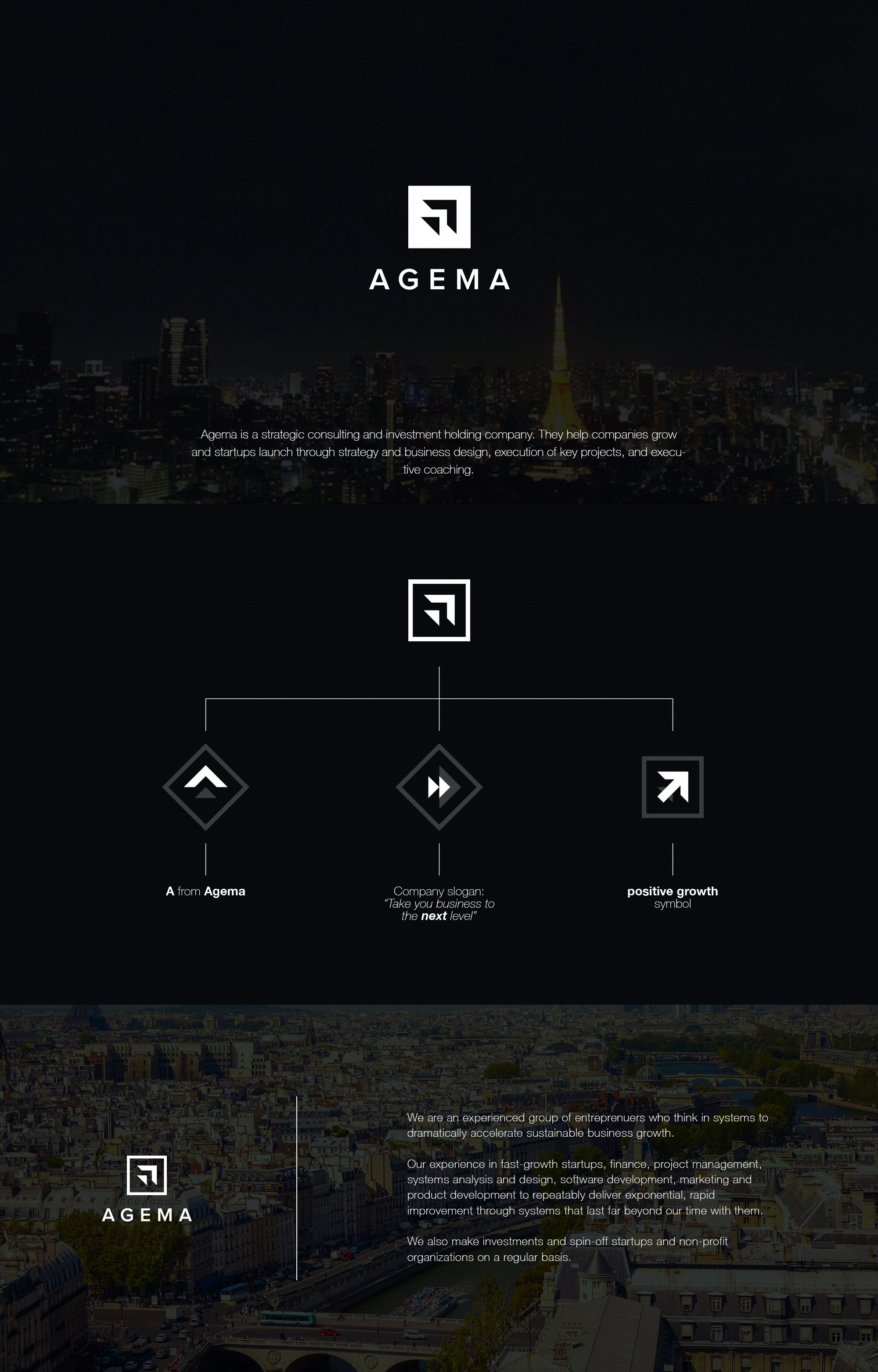 AGEMA Logo Design - strategic consulting and investment holding company.