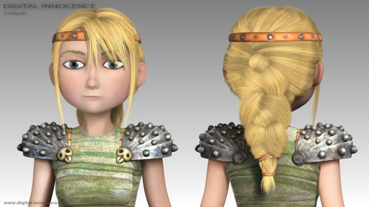 Astrid from how to train your dragon halloween diy a bootiful astrid hair front and back ccuart Gallery