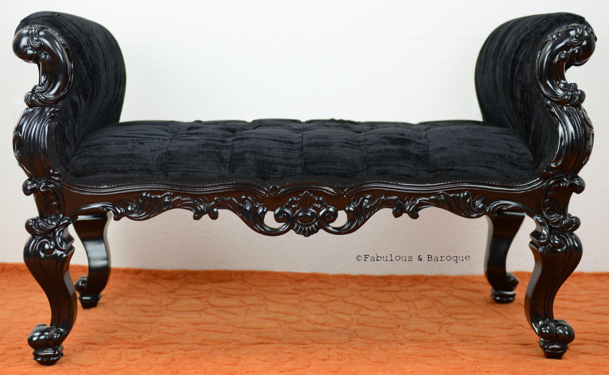 Arredamento Barocco ~ Absolom roche bench black barocco vittoriano e vintage