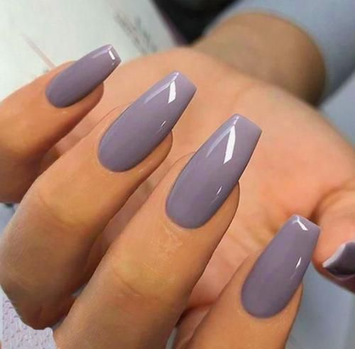 Short Coffin Nails In 2020 Plain Acrylic Nails Square Acrylic Nails Subtle Nails