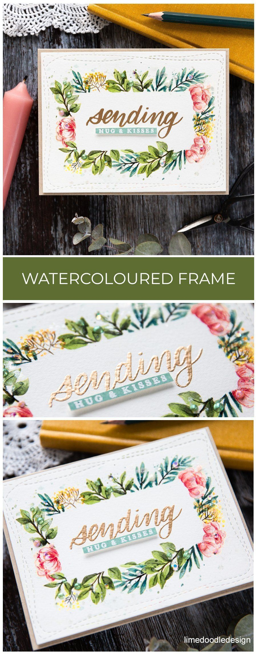 Watercoloured Floral Border + SSS June Card Kit #cardkit