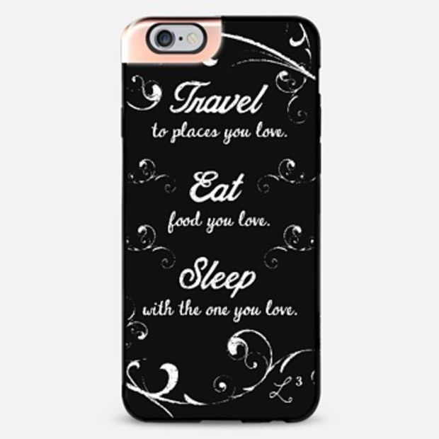 Travel Eat Sleep iPhone 6 case by Love Lunch Liftoff | Casetify - take $10 off with promo code QJ3PX9 - FREE SHIPPING TOO!
