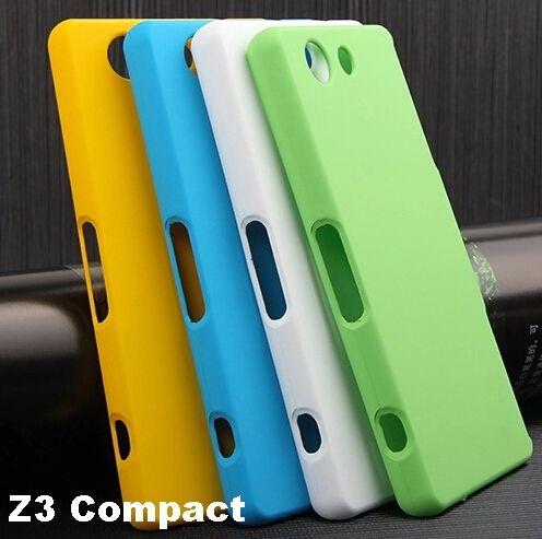 Z3 컴팩트 케이스 고무 매트 하드 커버 케이스 sony xperia z3 compact d5803 d5833 하드 커버 케이스 + 2 화면 보호