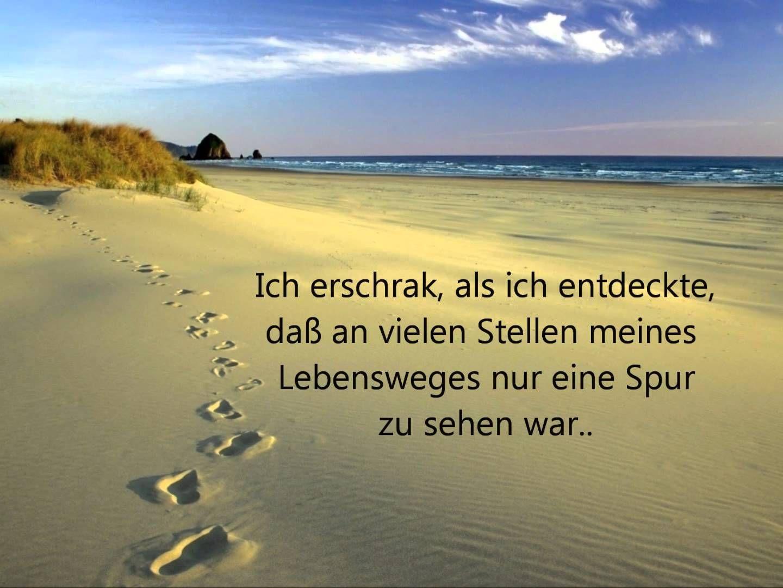 Christliche lieder deutsch spuren im sand zitate - Christliche zitate ...
