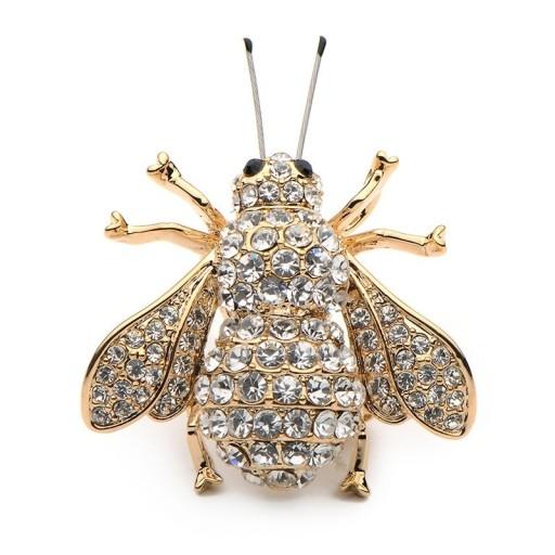 Lux Broszka Wisior Pszczola Zlota Z Czulkami Pude 7626919384 Oficjalne Archiwum Allegro Brooch Jewelry Insects