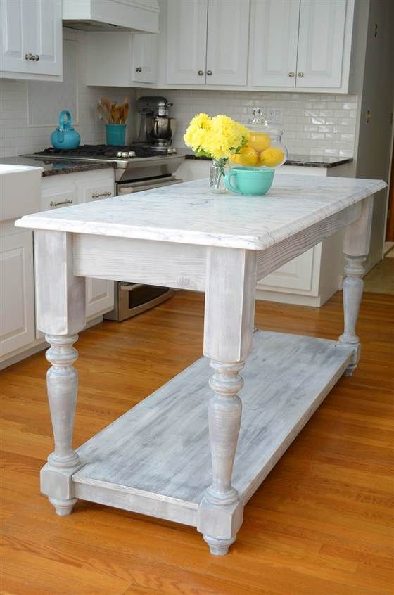 Add Extra Counter Space With These 5 D I Y Kitchen Islands Rustic Kitchen Island Diy Kitchen Island Diy Furniture
